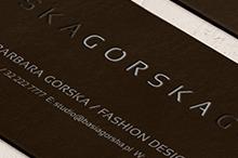 gorska » projekt logo, logo kolekcji, wizytowka, projekt strony internetowej