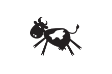 happy little cow logo